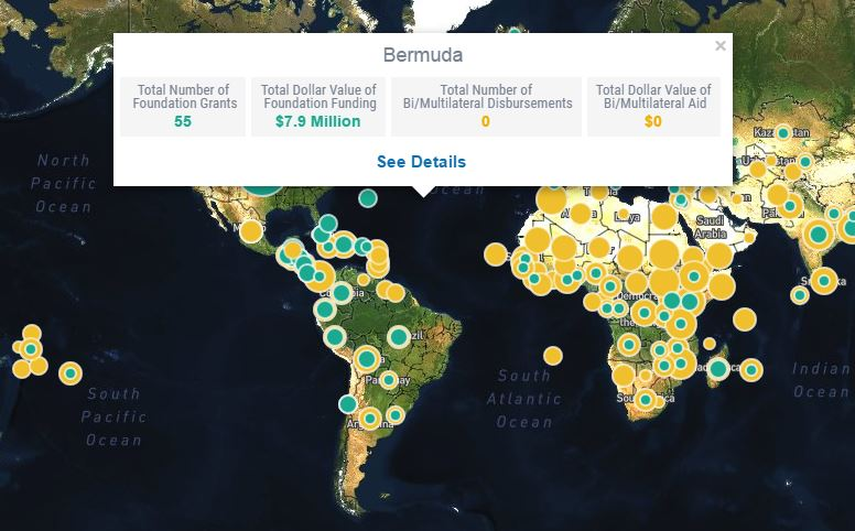 Find funders, recipients, and grants by geographic area