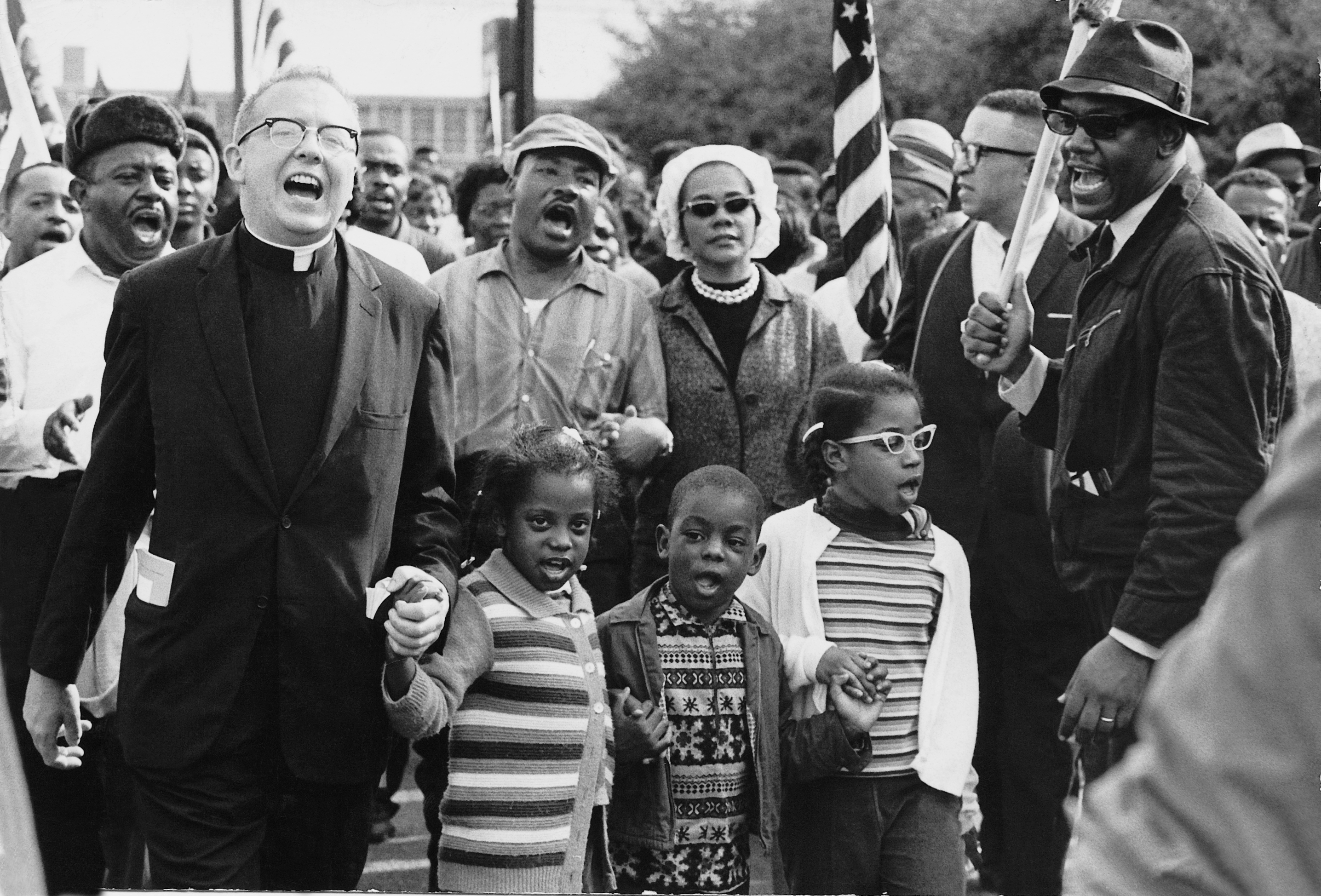 Abernathy children on the front lines in the march from Selma to Montgomery