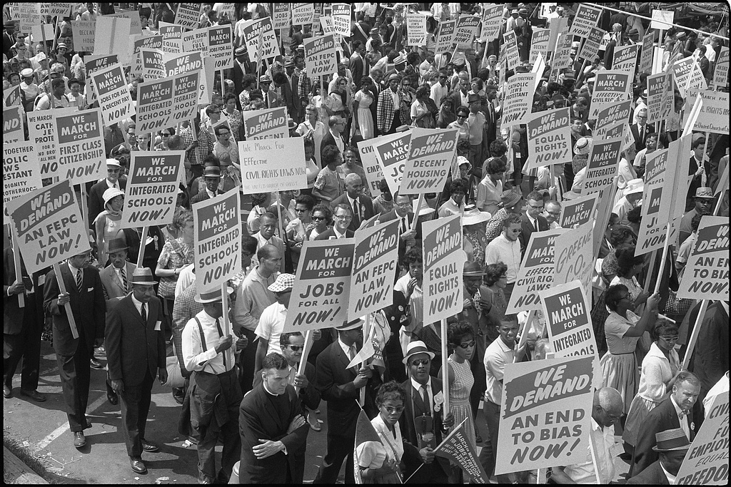 Demonstrators at the March on Washington for Jobs and Freedom