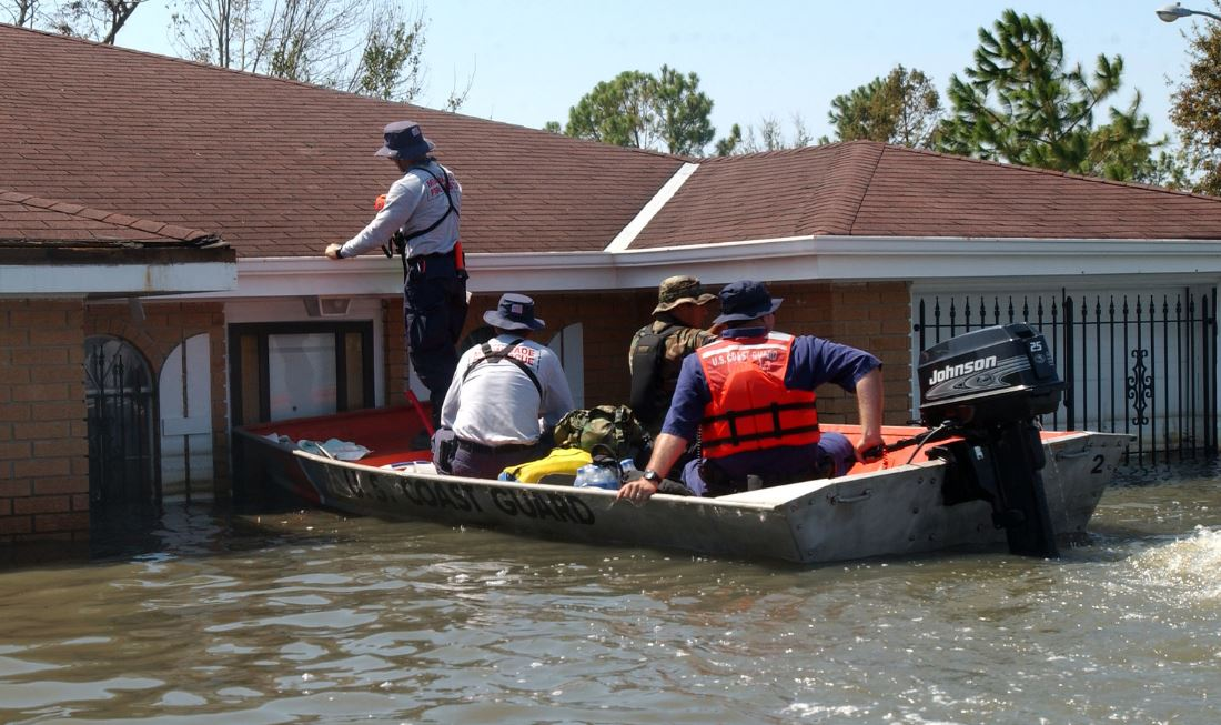 Hurricane Katrina rescue efforts. Source: Tidewater Muse, Flickr
