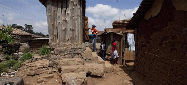 A pit latrine used by members of the community in the Kibera slum, in Nairobi, Kenya. Photo courtesy of the Bill & Melinda Gates Foundation