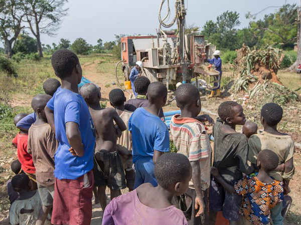 ILF drilled a borehole well in the Ogiroi village for the H20+ program. 1,373 children and villagers will have safe drinking water from this water source. Credit: International Lifeline Fund