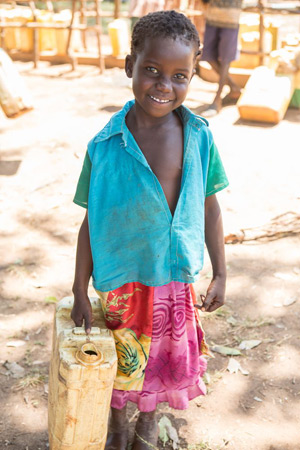 A girl from the Ogurotapa village where the Obutet borehole well was drilled in January 2013. Credit: Rudi Dundas