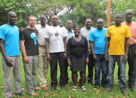 ILF Water and Sanitation Team in Uganda working on the H20 Health+ project. Credit: International Lifeline Fund