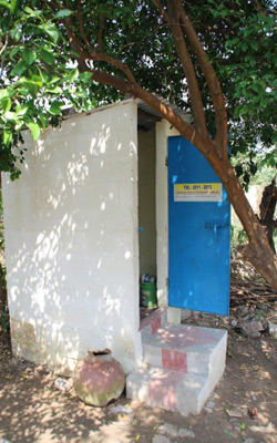 Family ecosan toilet in Tamil Nadu, India. Credit: Wherever the Need