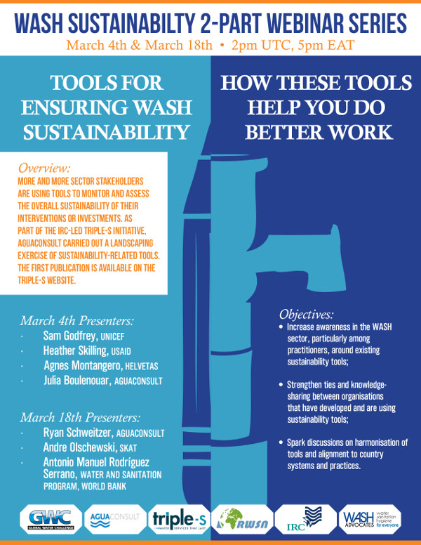 Landscape of Tools for Ensuring WASH Sustainability Webinar Series