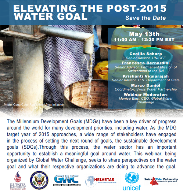 Webinar: Elevating the Post-2015 Water Goal