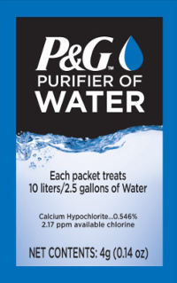 P&G water purification packet