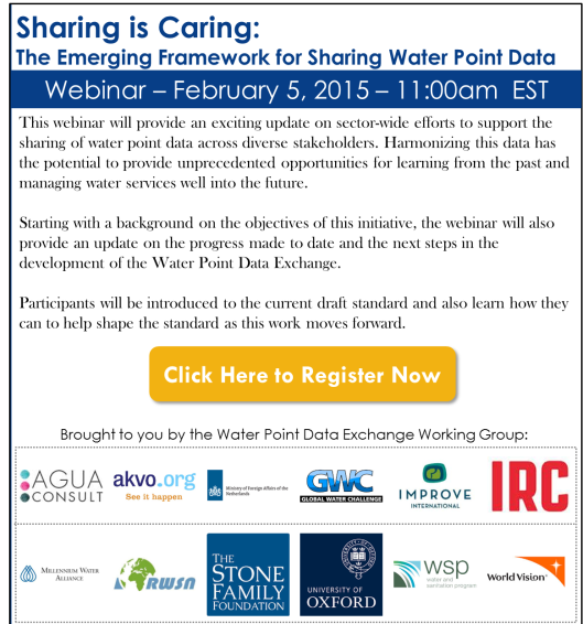 Sharing is Caring: The Emerging Framework for Sharing Water Point Data