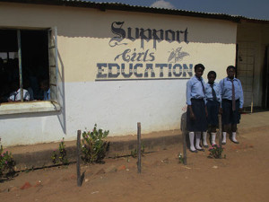 A school in Chipata. Photo Credit: Sarah Fry of WASHplus, FHI 360