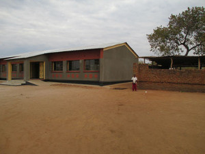 New classroom block built after SPLASH provided access to a new water source. Photo Credit: Sarah Fry of WASHplus, FHI 360