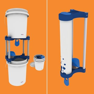 Povu Poa handwashing stations, as bucket (left) and pipe (right) models. Image Credit: Noel Wilson