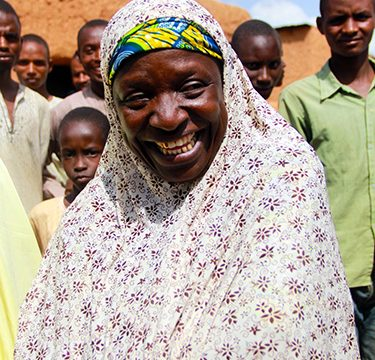© UNICEF Nigeria/2015 Zainabu visits one of the Open Defecation Free (ODF) communities within her jurisdiction. As Director of the Water, Sanitation and Hygiene (WASH) Department in her local government, she oversees a staff of 96 people working to improve sanitation in their communities.