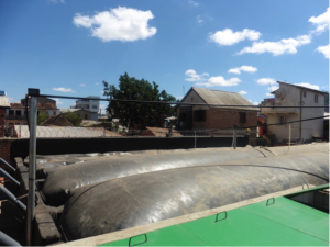 The biodigester in use, January 2017.