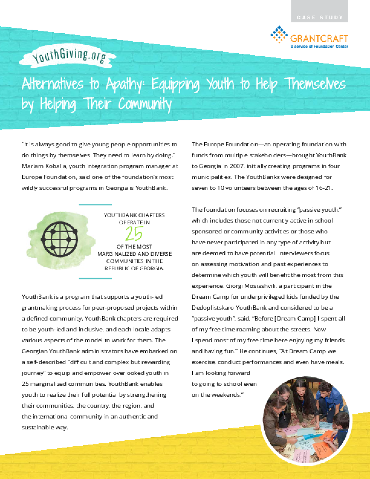 Alternatives to Apathy: Equipping Youth to Help Themselves by Helping Their Community